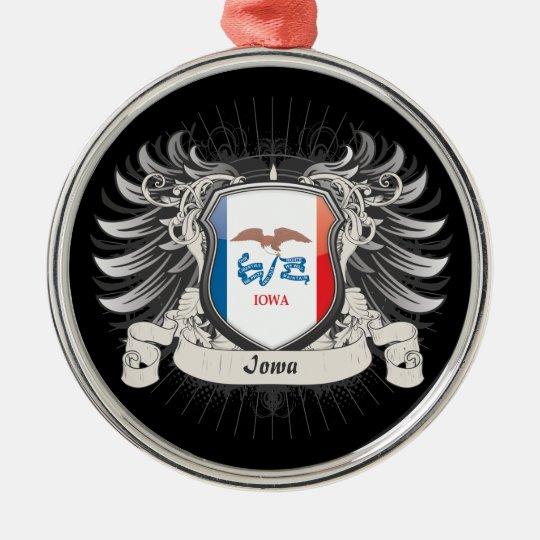 Iowa Crest Metal Ornament