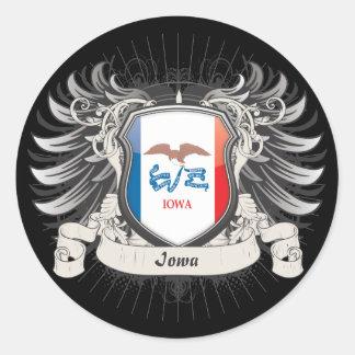 Iowa Crest Classic Round Sticker