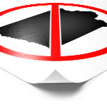 Iowa Cross Out Symbol Photograph