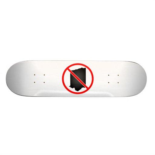 Iowa Cross Out Symbol Skate Boards