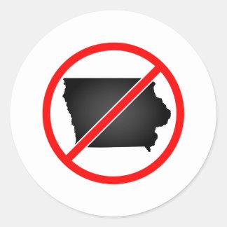 Iowa Cross Out Symbol Stickers