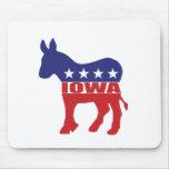 Iowa Democrat Donkey Mouse Pads