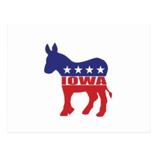 Iowa Democrat Donkey Post Card