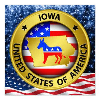 Iowa Democrat Patriotic Invitation - srf
