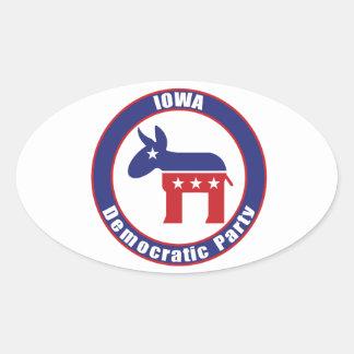 Iowa Democratic Party Oval Sticker