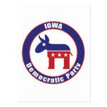 Iowa Democratic Party Postcard