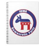 Iowa Democratic Party Spiral Notebooks