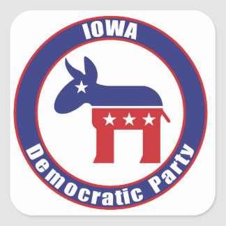 Iowa Democratic Party Square Sticker