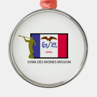 IOWA DES MOINES MISSION LDS CTR METAL ORNAMENT