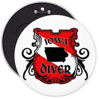 Iowa Diver Pinback Button
