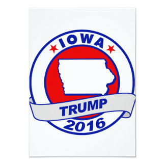 """Iowa Donald Trump 2016.png Invitación 5"""" X 7"""""""