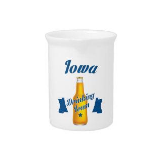 Iowa Drinking team Beverage Pitcher