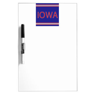 Iowa Dry Erase Board with Pen