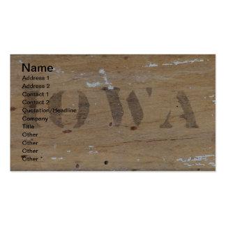 Iowa en la madera tarjetas de visita