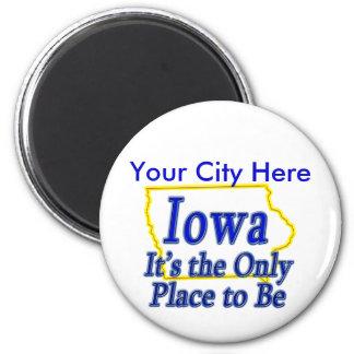 Iowa es el único lugar a ser imán de nevera
