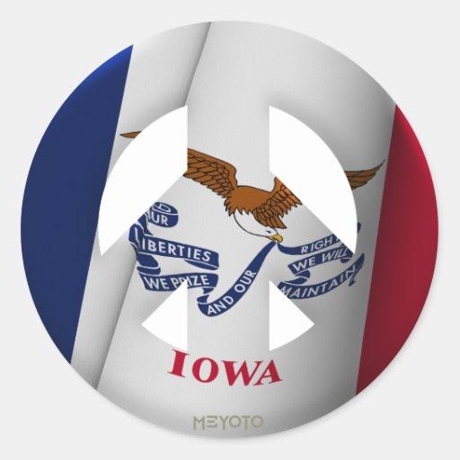 Iowa Etiquetas Redondas