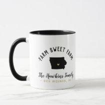 Iowa Farm Sweet Farm Family Monogram Mug