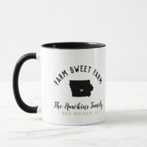 Iowa Farm Sweet Farm Family Monogram Mug
