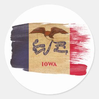 Iowa Flag Classic Round Sticker