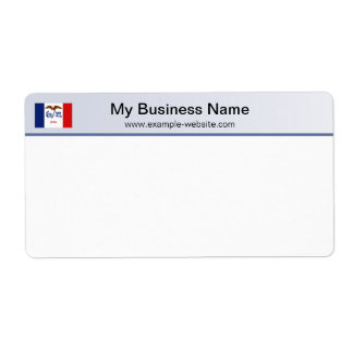 Iowa Flag Header Shipping Label