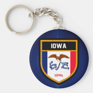 Iowa Flag Keychain