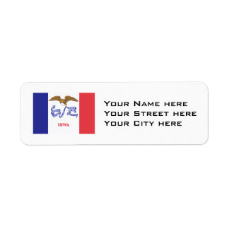 IOWA Flag Return Address Label
