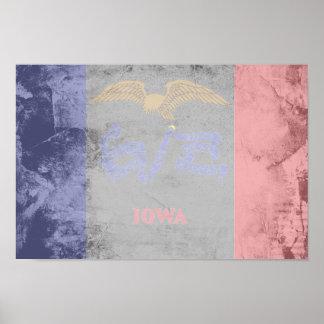 IOWA Flag Pattern Posters