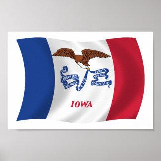Iowa Flag Poster Print
