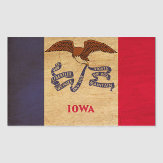 Iowa Flag Rectangular Sticker
