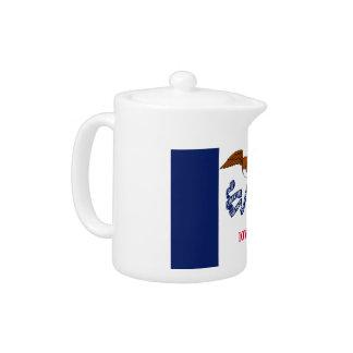 Iowa Flag Teapot