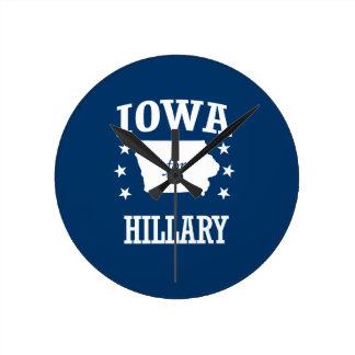 IOWA FOR HILLARY ROUND CLOCK