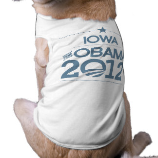 IOWA FOR OBAMA 2012.png Dog Tee Shirt