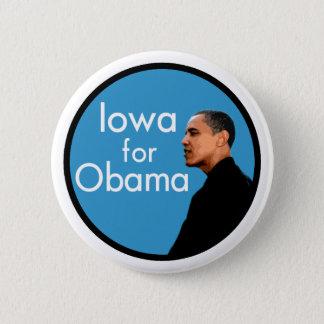 Iowa for Obama Stylish Campaign Button
