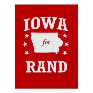 IOWA FOR RAND PAUL POSTER