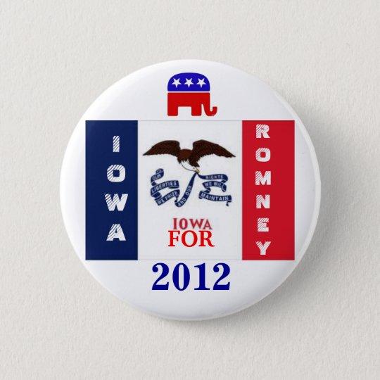 Iowa  for Romney 2012 Button