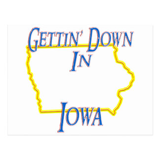 Iowa - Gettin' Down Postcard