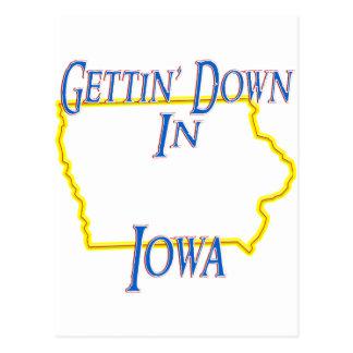 Iowa - Gettin' Down Postcard
