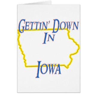 Iowa - Getting abajo Tarjetas