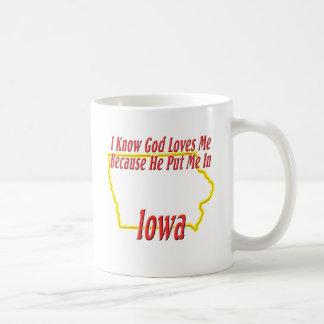 Iowa - God Loves Me Coffee Mug