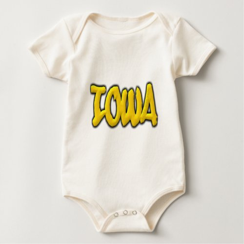 Iowa Graffiti Baby Bodysuit