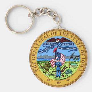 Iowa Great Seal Keychain