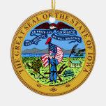 Iowa Great Seal Ornament