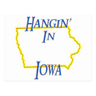 Iowa - Hangin' Postcard