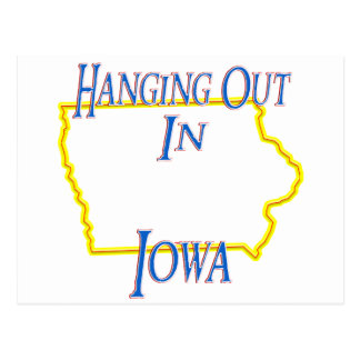 Iowa - Hanging Out Postcard