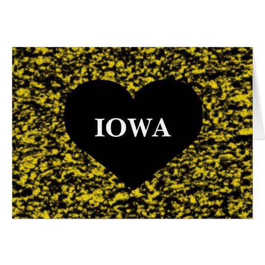 Iowa Heart Yellow Card