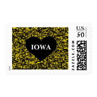 Iowa Heart Yellow Postage