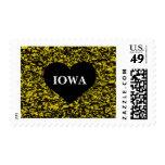 Iowa Heart Yellow Stamp