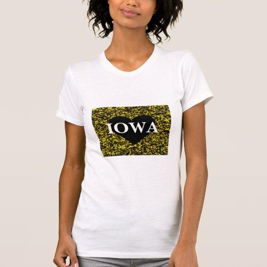 Iowa Heart Yellow T-Shirt
