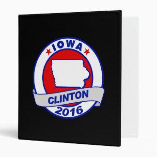 iowa Hillary Clinton 2016.png Vinyl Binders