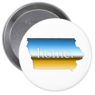 Iowa home Horizon 4 Inch Round Button